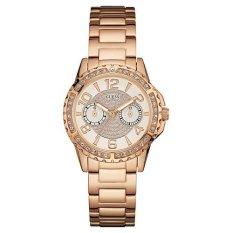 Guess - Jam Tangan Wanita - Rosegold-Putih - Stainless Steel - W0705L3