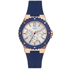Guess W0149L5 Overdrive - Jam Tangan Wanita - Navy Blue - Rubber - Stainless Steel - Guess Watch