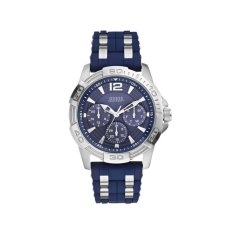 GUESS W0366G2 - Jam Tangan Pria - Rubber - Stainless - Blue - Silver