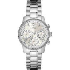 Guess W0623L1 Mini Sunrise - Jam Tangan Wanita - Silver - Diamond Kyrstal - Stainless Steel - Guess Watch