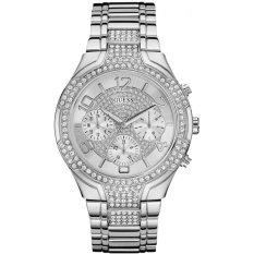 Guess W0628L1 Stellar - Jam Tangan Wanita - Silver - Diamond Kyrstal - Stainless Steel - Guess Watch