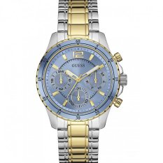 Guess W0639L1 LATTITUDE - Jam Tangan Wanita - Gold - Blue - Silver - Stainless Steel - Guess Watch