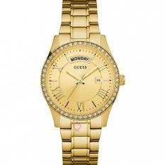 Guess W0764L2 Cosmopolitan - Jam Tangan Wanita - Gold - Diamond Krystal - Stainless Steel - Guess Watch