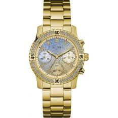 Guess W0774L2 Competti - Jam Tangan Wanita - Blue - Gold - Diamond Krystal - Stainless Steel - Guess Watch