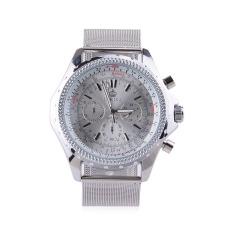 GZ-SMT Men's Fashion Dress Watch ORKINA Brand Luxury Watches Stainless Steel Quartz WristWatch - Silver