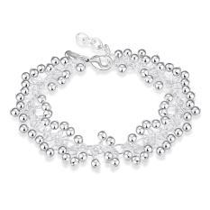 H017 Latest Women Classy Design Silver Plated Bracelet Factory Direct Sale Pearl Beautiful - Intl