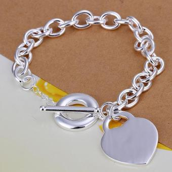 H274 Latest Women Classy Design Silver Plated Bracelet Factory Direct Sale - Intl