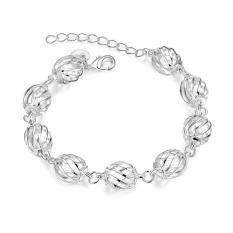 H358 Handmade Women European Charm Silver Bracelet Silver (Intl)