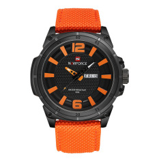Hazobau 16 New NAVIFORCE Lxy Genuine Brand 3ATM Waterproof Mens Sport Leisure Table Calendar Watch Strap