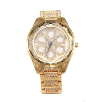 Hazyasm HEMNEZ Authentic Korean Fashion Trend Diamond Jewelry Watches Fashion Table Quartz Watch Waterproof And Shockproof (Gold)