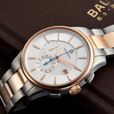 Hazyasm OCHSTIN Authentic Brand Swiss Watches Men's Watches Waterproof High-grade Steel Belt Male Table Calendar (Whtite)