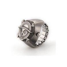 HDL Vintage Cute Skull Pirate Metal Pocket Finger Ring Watch 0.83-Inch - Intl