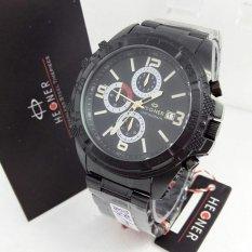 Hegner - Jam Tangan Formal Pria - Stainless Steel - HG 394 Black White