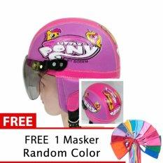 Helm Anak Unyu Unyu Usia 1 5 Tahun Motif Frozen Pinkcream Free .