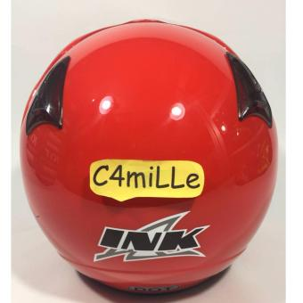 HELM INK CX 22 SOLID FIRE RED HALF FACE