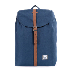 Herschel Post Classic Backpack - Navy-Tan Synthetic Leather