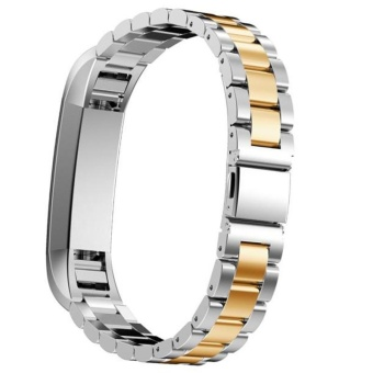 High Quality Luxury Stainless Steel Watch Band Excellent Wrist Strap For Fitbit Alta/Alta HR Tracker Watch Accessories Silver Gold - intl