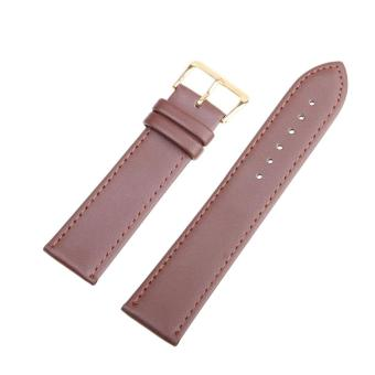 High Quality Store New Women Men High Quality Unisex Leather Black Brown Watch Strap Band 16mm