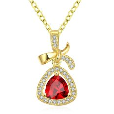High Quality Zircon Necklace Fashion Jewelry 18K Gold Plating Necklace