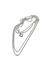 HKS 925 Sterling Silver Bead Necklace Chain 22 (Intl)