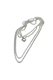 HKS 925 Sterling Silver Bead Necklace Chain 22