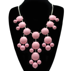 HKS Adorable Bubble Beaded Necklace Pendant Lady Collar Type Chain Jewelry