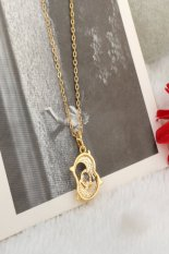 HKS Couple Dolphin Crystal Necklace (Intl)