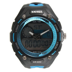 HKS Dual Time Analog-Digital Stopwatch Day Date Men Boy Waterproof SKMEI Sport Watch (Intl)