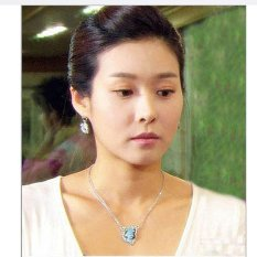 HKS Fashion Crystal Butterfly Pendant Necklace (Blue) (Intl)