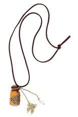 HKS Fashion Noble Jewelry Retro Wishing Bottle Long Leather Rope Sweater Necklace (Intl)