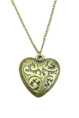 HKS Heart Multilayer Retro Long Chain Necklace Gold (Intl)