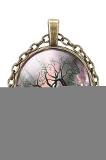 HKS Pendant Necklace Vintage Life Tree Glass Dome Cabochon IB1273 (Intl)