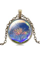 HKS Pendant Necklace Vintage Life Tree Glass Dome Cabochon IB1275 (Intl)