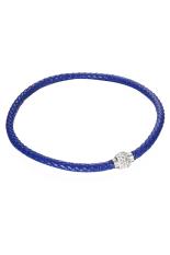 HKS Pu Leather Wrap Magnetic Rhinestone Necklace Blue (Intl)