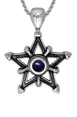 HKS Retro Polishing Titanium Steel Pendant Necklaces (Silver) (Intl)