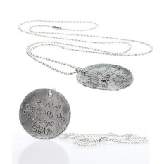 HKS Round Plated Letter Charms Pendants Necklace Cool W (Intl)