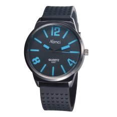 HKS Simplicity Gorgeous Big Face Silicone Strap Sporting Wrist Watches (Blue) (Intl)