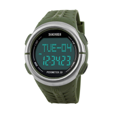 HKS Skmei 1058 Heart Rate Monitor Pedometer Sport Watch (Army Green) Outdoor Adventure (Intl)
