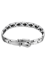 HKS Stainless Steel Bracelet GS977 Fashion Women 16 Grains Magnetic Therapy New (Intl)