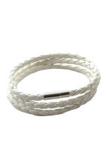HKS Twist Leather Cord Necklace (White) (Intl)