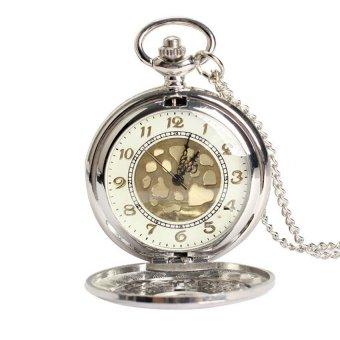 HKS Vintage Large Gold Face Pocket Watch Necklace Women Men Quartz Pocket Watch