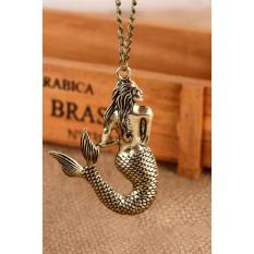 HKS Vintage Necklace Bronze Mermaid Gold (Intl)