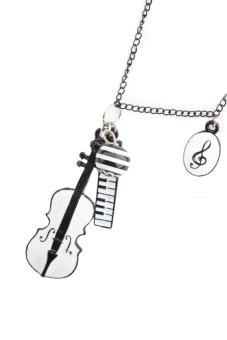 HKS Womens Temperament Serenade Violin Fall Necklace B