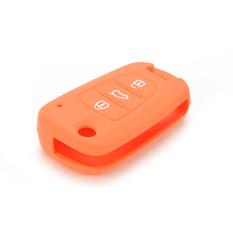 HomeGarden Car Key Case Cover Silicone For KIA Orange (Intl)