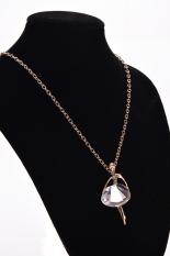 HomeGarden Women Chain Necklace Ballerina Dancer White (Intl)