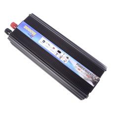HOT-A1-0001.2000W Car Vehicle USB DC 12V To AC 220V Power Inverter Adapter Converter - Black