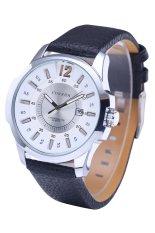 Hot Sale Curren 8123 Luxury Brand Quartz Watches Leather Strap Sports Waterproof Quartz Watch Silver Shell White Surface