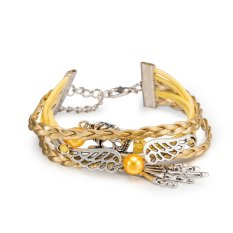 Hot Sale Punk Wind Retro Leather Cord Bracelet Series Skull Palm Shape, Jewelry Wholesalers FSH254 - Intl
