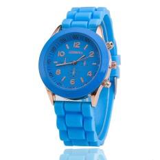 Hot Selling Silicone Geneva Watch Casual Quartz Women Wristwatch (Blue) (Intl)