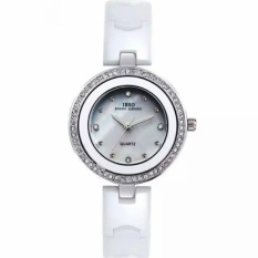 huajiao IBSO The Small Dial Ceramic Watches Diamond Watch FashionJoker Ladies For Lady Lover Watches High-Grade Watch (White) - intl